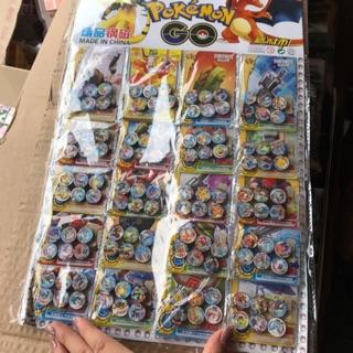 [Mã TOY6UP giảm 15% đơn 99K] Sỉ vỉ 20 bộ nam châm bẹt hình pokemon( bộ 6 nam châm)