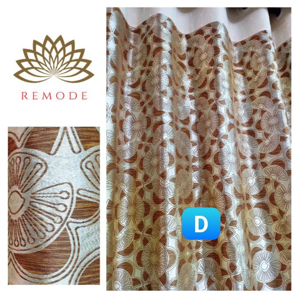 Rèm cửa vải gấm tơ tằm màu vân gỗ sáng tạo, sang trọng, độc đáo