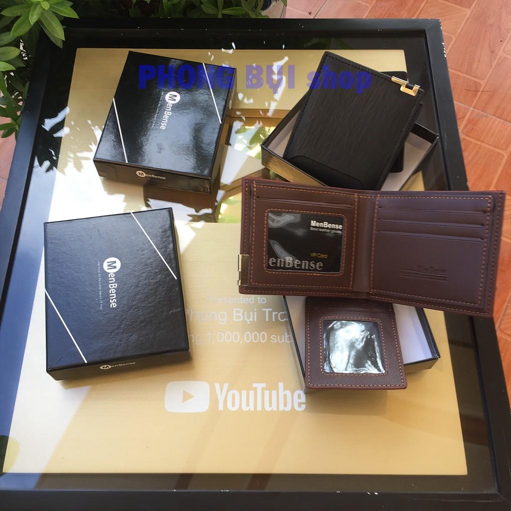 Ví Nam Cao Cấp Hàng Full Box Bộ 2 Phụ Kiện Kèm Bao Da Đựng Thẻ Chất Liệu Da Pu Công Nghệ Cao PB001 Có Video Hình Thật