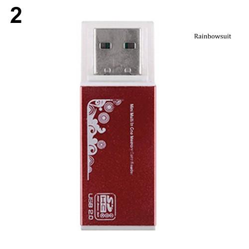 Đầu Đọc Thẻ Nhớ Đa Năng Usb 2.0 Cho Micro Sd Sdhc Tf M2 Mmc Ms Pro Duo