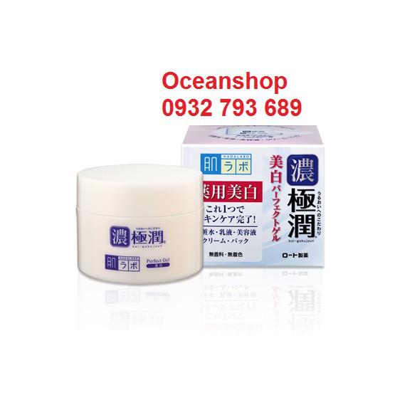 Kem dưỡng ẩm, trắng da Hada Labo Whitening Perfect Gel 100g (Bill mua tại Nhật ảnh bên cạnh)