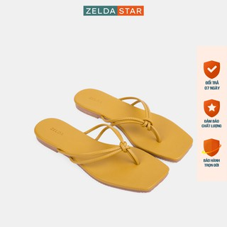 Dép xẹp nữ Zelda Star xỏ ngón quai thắt đế 1cm - DX0271020 thumbnail