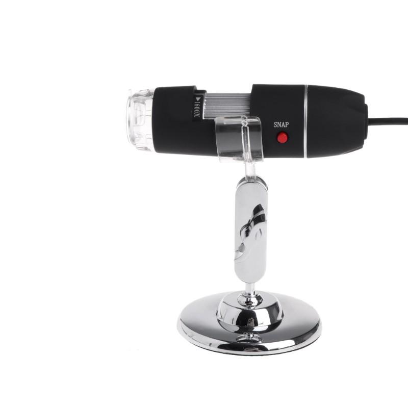Kính hiển vi nội soi mini sử dụng cáp sạc USB 1600x có 8 đèn LED