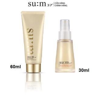 [HB Gift] Combo dưỡng làm sạch và dưỡng ẩm tái sinh da chiết xuất vàng Su:m37 Gimmick
