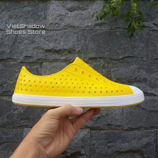 Giày nhựa đi mưa nam nữ - Chất liệu nhựa xốp siêu nhẹ - Màu vàng thumbnail