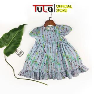 Váy Đầm Bé Gái Đáng Yêu Vải Thô Xô Hàn Quốc Siêu Mềm Nhẹ