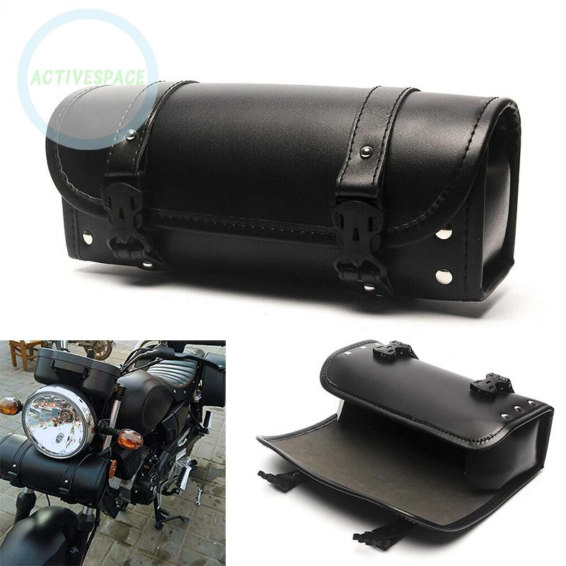 Túi da đựng đồ trên xe mô tô Harley Chopper Bobber Cruiser kích thước 29.5x9x12.5cm