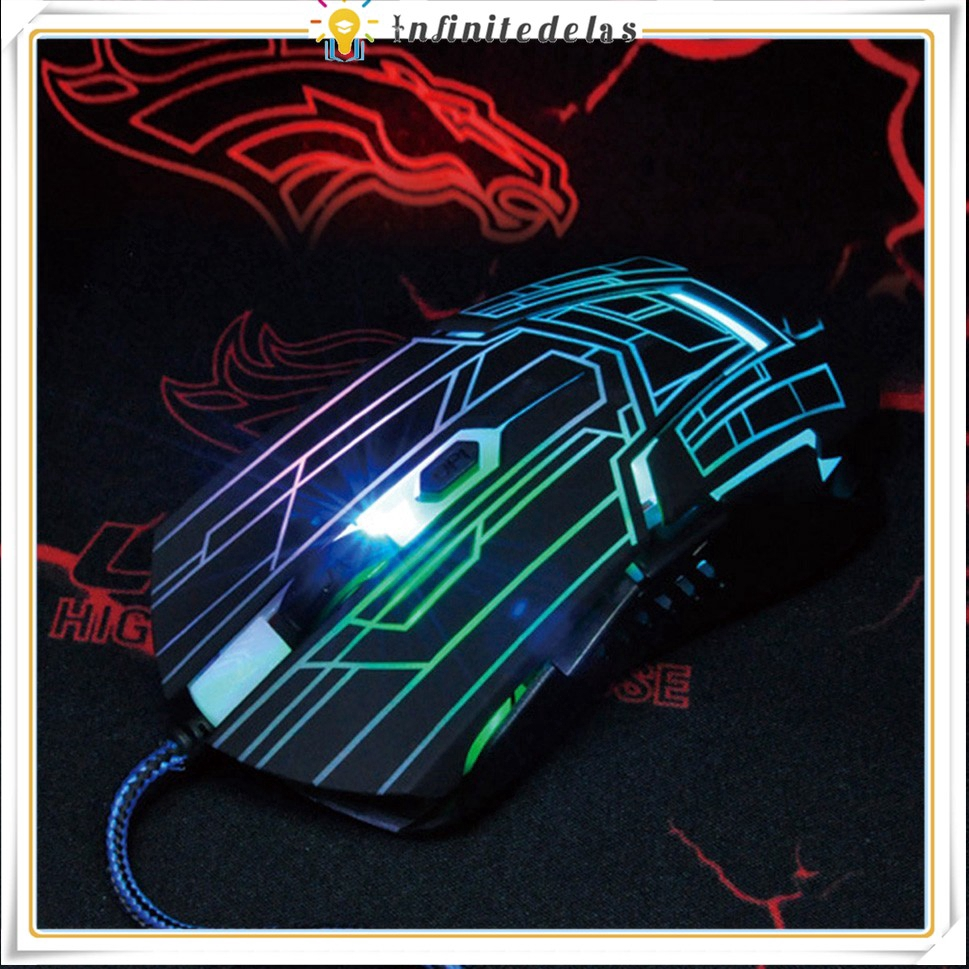 INFINITE FC-5215 Wired Gaming Mouse 7 Color Backlight 3 Button Computer Mouse Gamer Mouse Giá chỉ 129.677₫