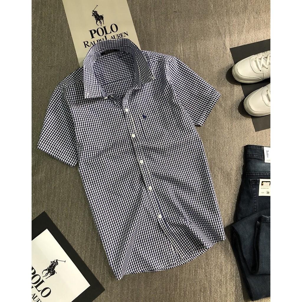 Áo sơ mi nam tay ngắn sọc polo hàng thời trang Hàn Quốc - Thời trang Havis ASM047