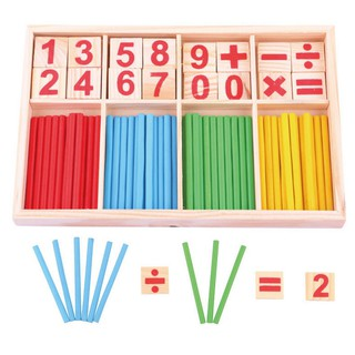 Early Education Digital Stick Digital Box Toy Wooden Counting Sticks