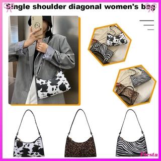 Túi xách đeo vai bằng da PU in họa tiết da động vật thời trang cho nữ