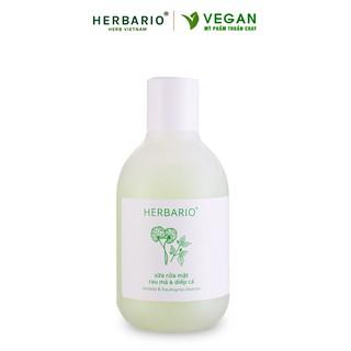 Sữa rửa mặt Rau má & Diếp cá herbario 200ml sạch mụn thuần chay thumbnail