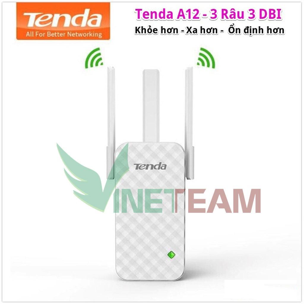 Bộ kích sóng wifi 3 râu chất lượng cao Tenda A12 (Wifi Repeater A12) -dc4312