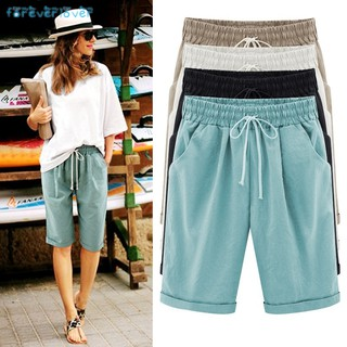 ❀❃✨ Women Lady Pirate Shorts Casual Elastic Waistband Loose With Pocket Fashion For Summer