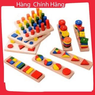 [Hỗ trợ giá] Bộ giáo cụ Montessori 8 món loại 1 cho bé_Chính hãng