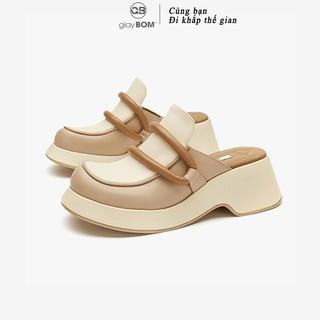 Giày sục nữ giayBOM đế xuồng cao 7 cm thiết kế mới lạ B1166 thumbnail