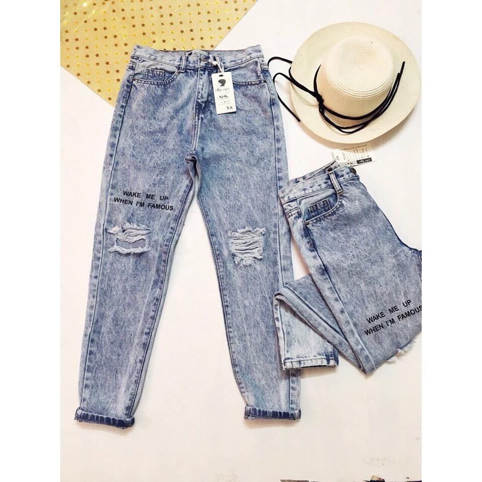 FS50K_Quần Jeans Nữ Rách Cao Cấp OHS3051