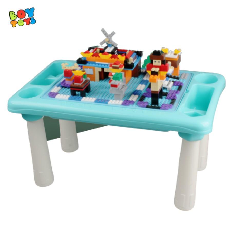 Bàn chơi lego đa năng 300 chi tiết cho bé thỏa sức sáng tạo (Learn Building Blocks)