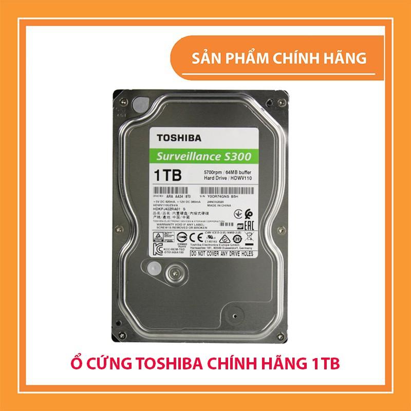 Ổ cứng HDD 1TB Toshiba Chính hãng, Chuyên dụng Camera - Bảo hành 36 Tháng