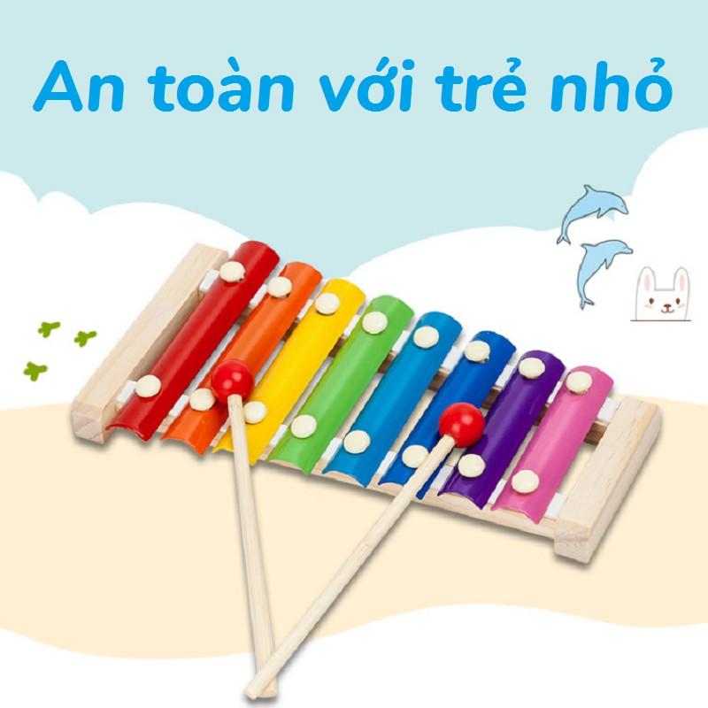 Đàn trẻ em – Mô hình đàn mộc cầm gỗ 8 nốt Xylophone – ĐỒ CHƠI TRÍ TUỆ – Phát triển thông minh và năng khiếu