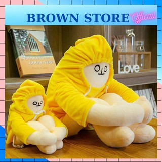 [ MUA 1 TẶNG 1 ] Gấu Bông Người Chuối Trầm Cảm Banaman Dễ Thương BrownStore 1