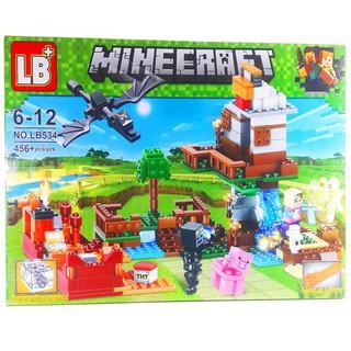 Bộ Lego Xếp Hình Mineecraft My World LB-534. Gồm 456 Chi Tiết. Ninjago Lắp Ráp Đồ Chơi Cho Bé.