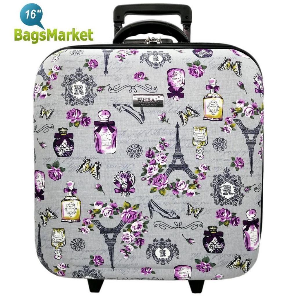 ท่องเที่ยว BagsMarket Luggage Wheal กระเป๋าเดินทางหน้านูน กระเป๋าล้อลากขนาด 16x16 นิ้ว Code EFP345-08 Perfume Eiffel Ros