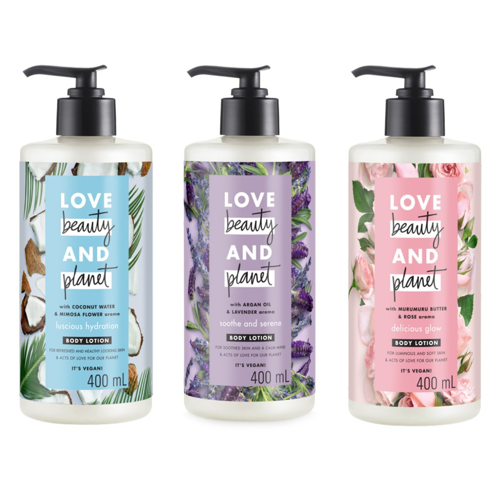 Sữa Dưỡng Thể Love Beauty And Planet Body Lotion 400ml