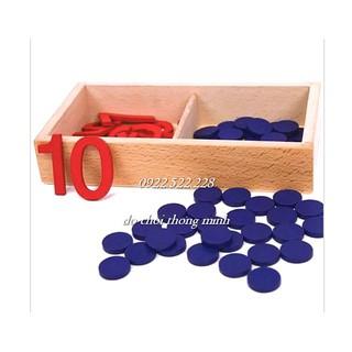 Bộ tập đếm dot – Giáo cụ Montessori