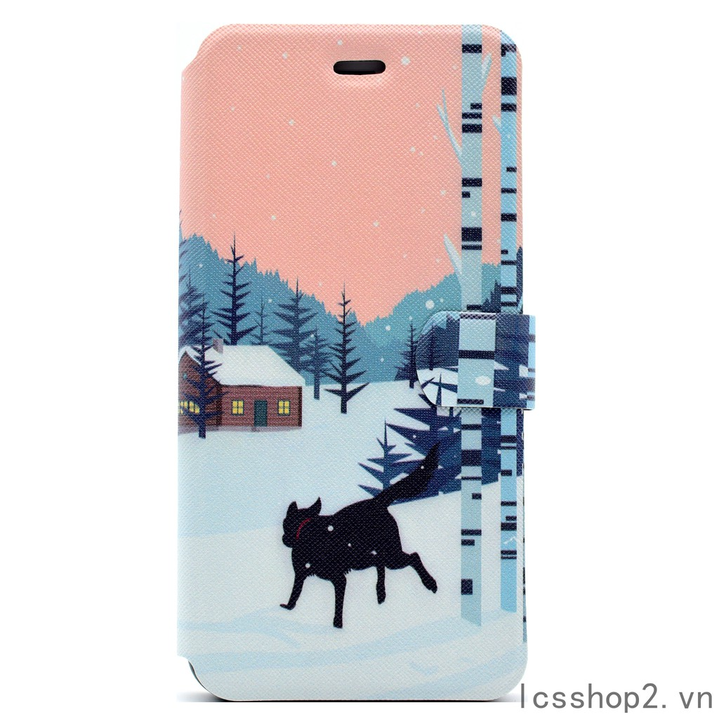 🔆 iphone 7 8 7Plus/8Plus Snow Wolf Cover 6/6s 6Plus/6s plus leather Case
