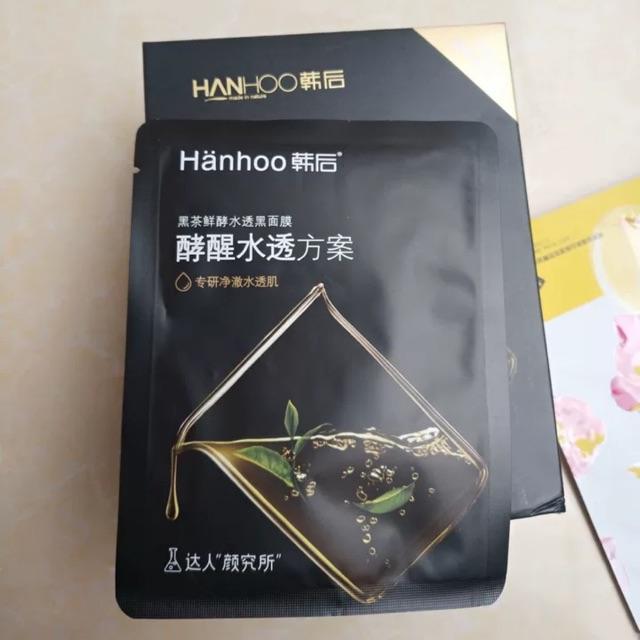 Mặt nạ Hanhoo trà đen - set 10M