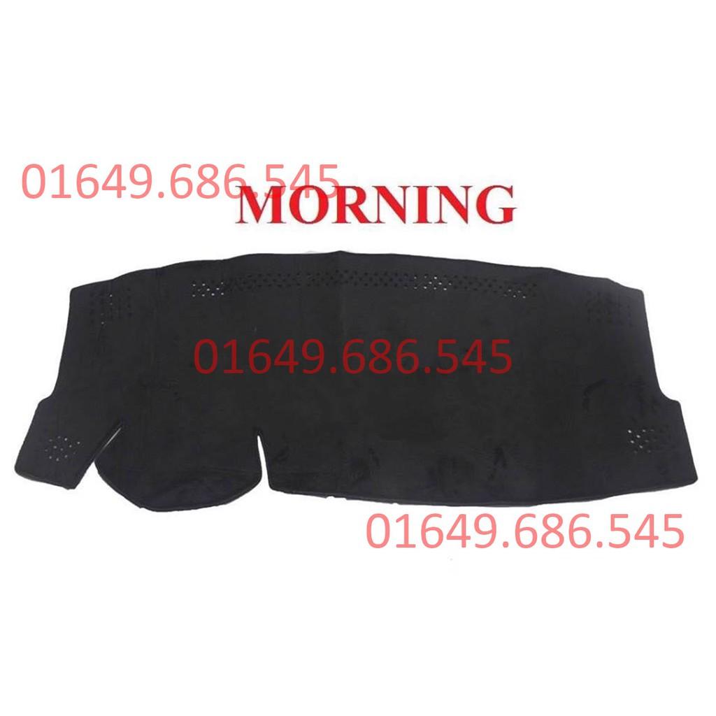 Thảm taplo lông cừu korea xe Morning
