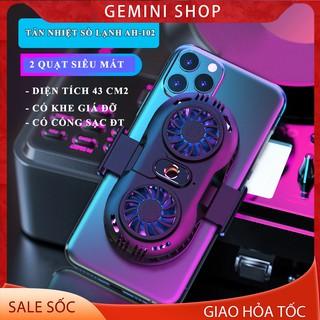 Quạt tản nhiệt điện thoại 2 quạt sò nóng lạnh memo AH102 Gaming giá rẻ GEMINI SHOP thumbnail
