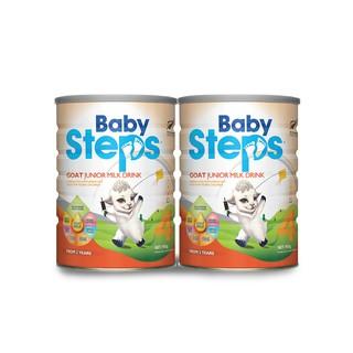 Combo 2 lon Sữa Dê Công thức Baby Steps Goat Junior Milk Drink số 4 900gr thumbnail