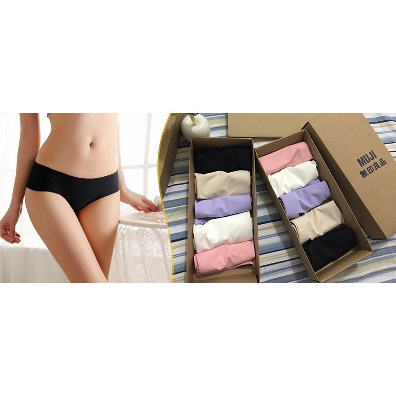 Quần lót nữ ( hộp 5 quần nhật mềm mịn)