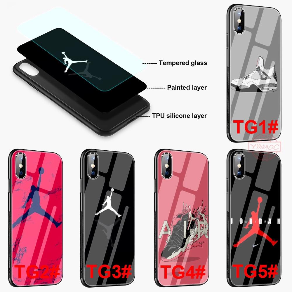 Ốp điện thoại kính cường lực in hình nhãn hiệu Air Jordan cho iPhone 5 5S SE 6 6S 7 Plus 8 Plus XR X XS Max - 13959134 , 2375244827 , 322_2375244827 , 110000 , Op-dien-thoai-kinh-cuong-luc-in-hinh-nhan-hieu-Air-Jordan-cho-iPhone-5-5S-SE-6-6S-7-Plus-8-Plus-XR-X-XS-Max-322_2375244827 , shopee.vn , Ốp điện thoại kính cường lực in hình nhãn hiệu Air Jor