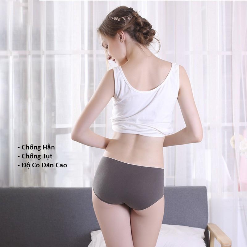 [ CÓ SIZE XL - ĐƯỢC CHỌN MẦU ] Quần lót cotton không đường may, quần lót nữ không viền xuất Nhật QC60