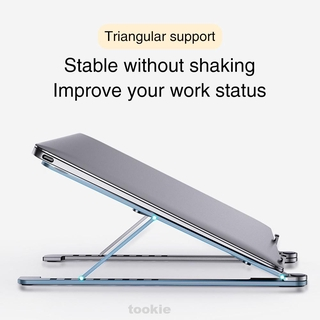 Adjustable Height Aluminum Alloy Universal Foldable Ergonomic Laptop Stand