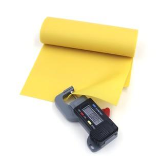 (0.8mm) Cuộn 1m thun Latex Malaysia dày 0.8mm (Màu vàng)