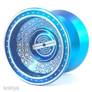 Professional Aluminum Alloy YoYo Ball +3 Strings +1 Glove +1 Bearing Blue