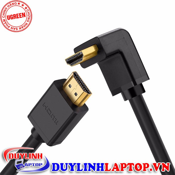 Cáp HDMI bẻ góc 90 độ dài 1m chính hãng UGREEN 10172 - Cáp HDMI chính hãng chất lượng cao