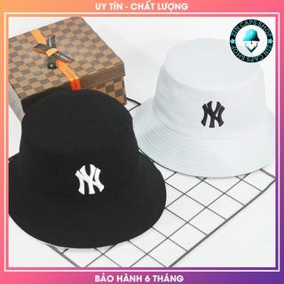 [HÀNG HIỆU] Mũ Bucket 2 Mặt Đen Trắng NY / nón tai bèo / mu tai beo hai mat trang den / vành / non vanh / xo / xô