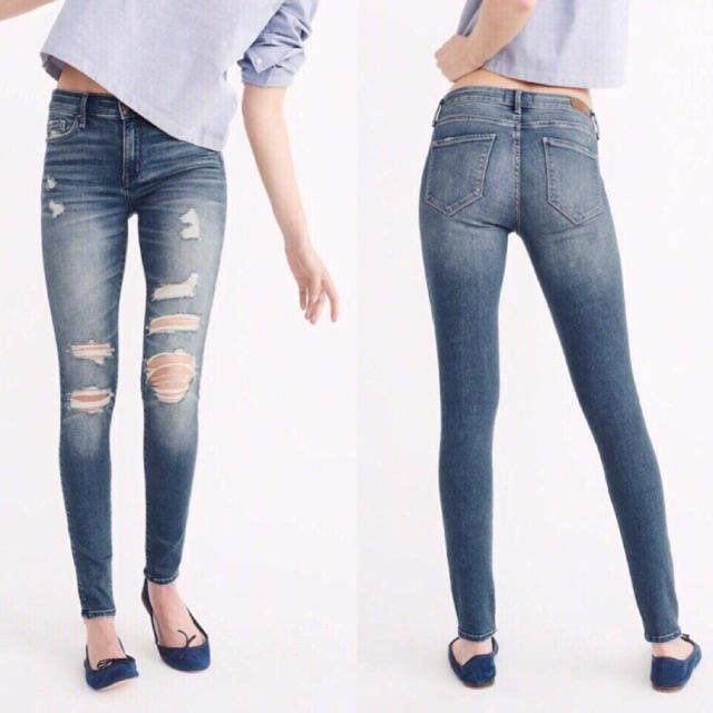 Quần jean skinny A&F
