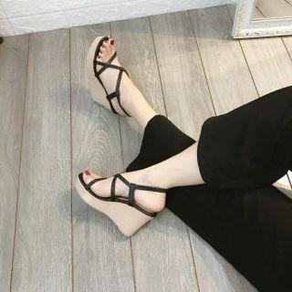 Giày xuồng 9p dây chéo mảnh da mềm siêu hot ( đen, nude) thumbnail