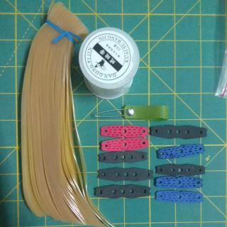 Thun latex Malaysia của shop binhxubt combo 20 bộ tặng 10 da và cuộn dây cột cây móc thun