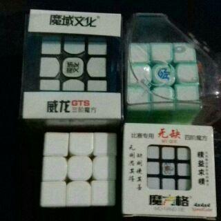 Combo 7 cube valk đỏ, aqua, trắng, gan mint, mgc v2, gts1M, wushuangM