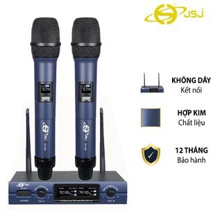 [2 mic] Micro karaoke không dây cao cấp JSJ SV322 tích hợp màn hình led chuyên nghiệp kèm đầu thu sóng, giảm nhiễu