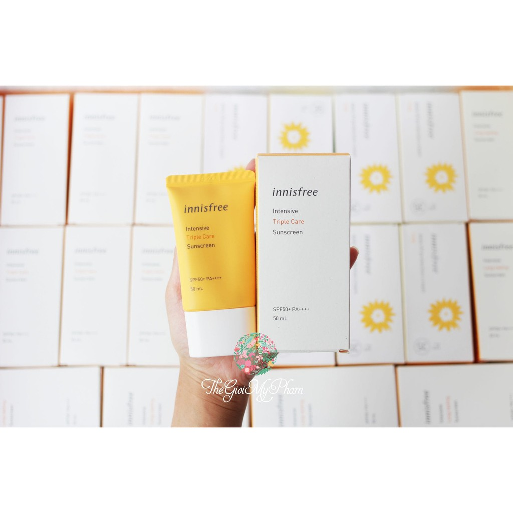 Kem Chống Nắng Innisfree Perfect UV Protection Cream Triple Care SPF 50 PA+++ Mẫu mới