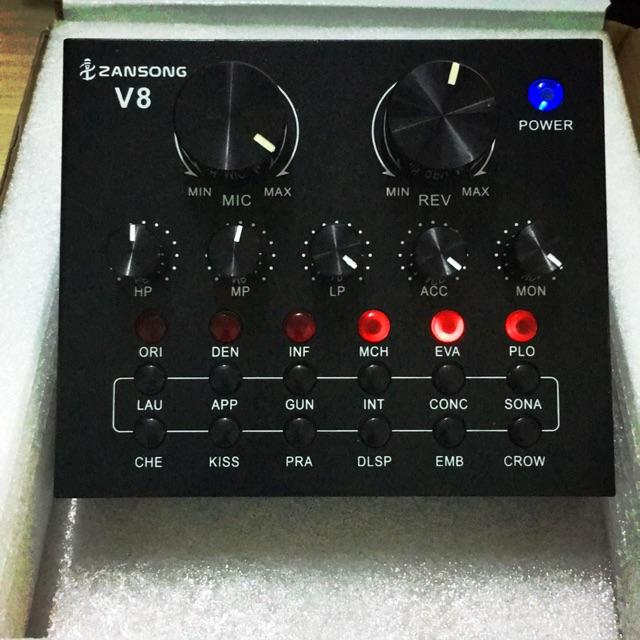 Sound card V8 livestream Karaoke cực hay