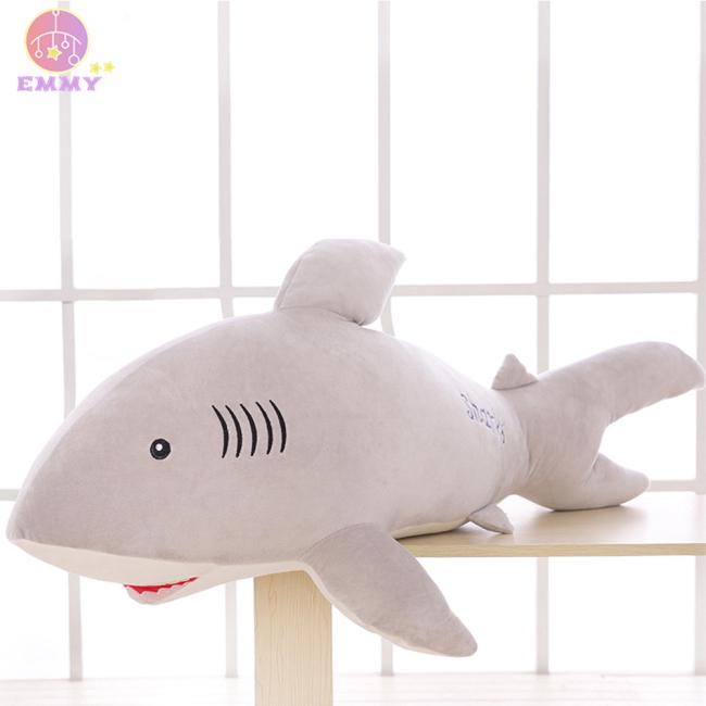 50cm/20in Lovely Cotton Stuffed Simulation Animal Pillow Soft Plush Doll Shark Toy Birthday Present Holiday Gift for